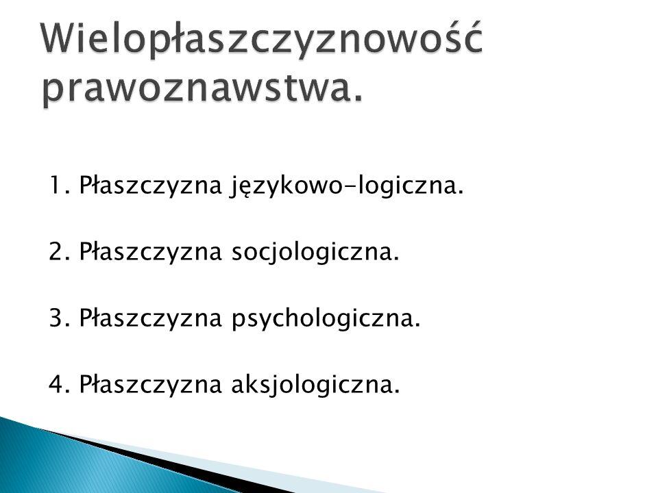 1. Płaszczyzna językowo-logiczna. 2. Płaszczyzna socjologiczna. 3. Płaszczyzna psychologiczna. 4. Płaszczyzna aksjologiczna.