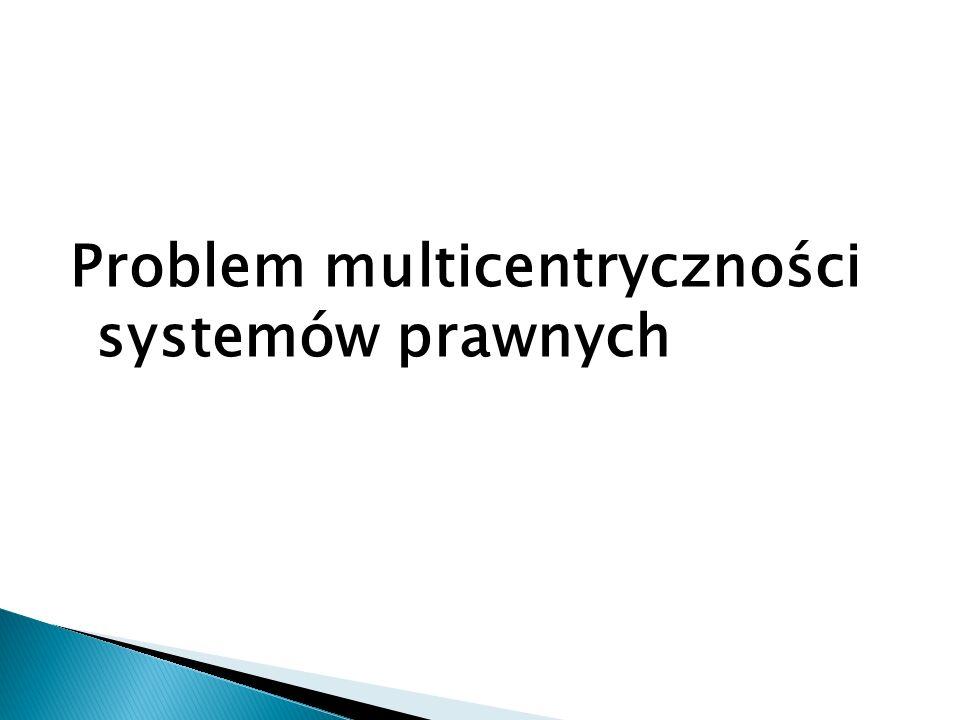 Problem multicentryczności systemów prawnych