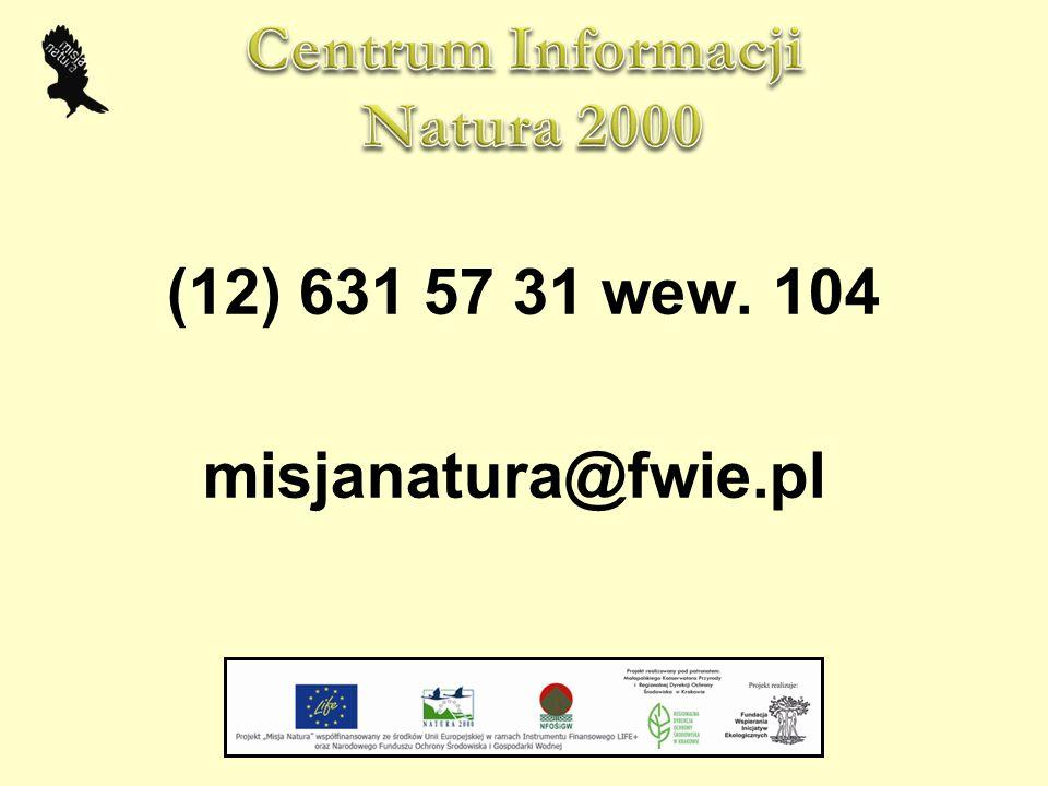(12) 631 57 31 wew. 104 misjanatura@fwie.pl