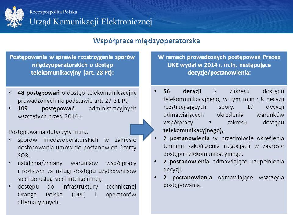Konkurs na operatora pocztowego wyznaczonego do świadczenia usług powszechnych 30 grudnia 2014 r.
