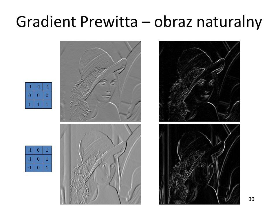 30 Gradient Prewitta – obraz naturalny 01 10 10 000 111