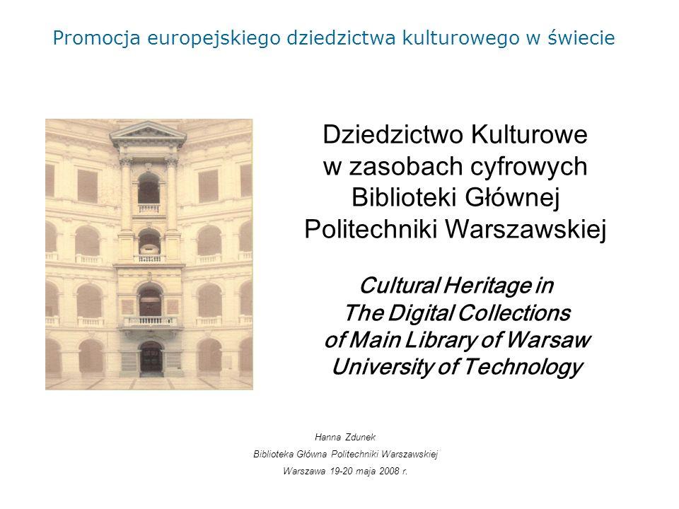 2 bcpw.bg.pw.edu.pl Biblioteka Cyfrowa Politechniki Warszawskiej Warsaw University of Technology Digital Library