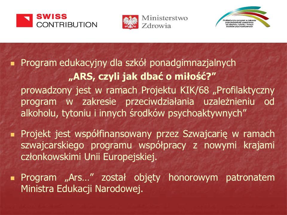 """""""ARS, czyli jak dbać o miłość? Autor programu – dr Krzysztof Wojcieszek."""