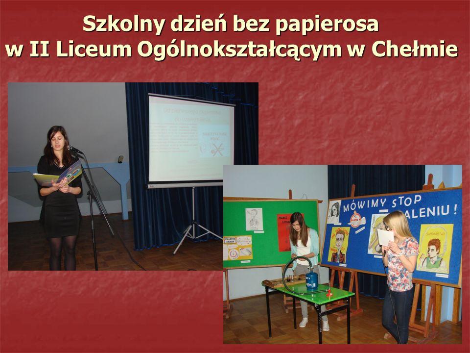 Szkolny dzień bez papierosa w II Liceum Ogólnokształcącym w Chełmie