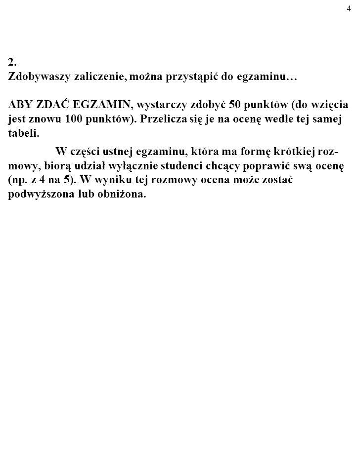 Reguły gry (MAKRO II na studiach dziennych SGH) 1.