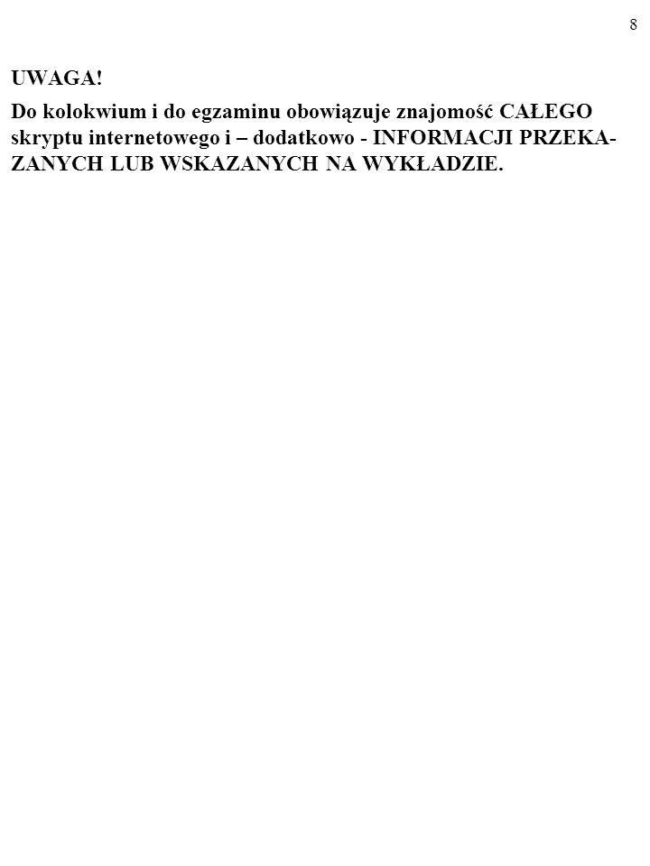 28 3.3.ZWIĄZEK PRZYCZYNOWY A ZALEŻNOŚĆ STRUK- TURALNA.