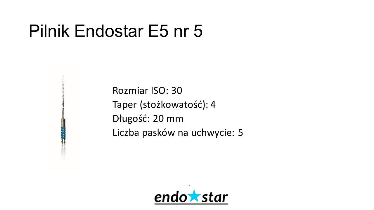 Pilnik Endostar E5 nr 5 Rozmiar ISO: 30 Taper (stożkowatość): 4 Długość: 20 mm Liczba pasków na uchwycie: 5