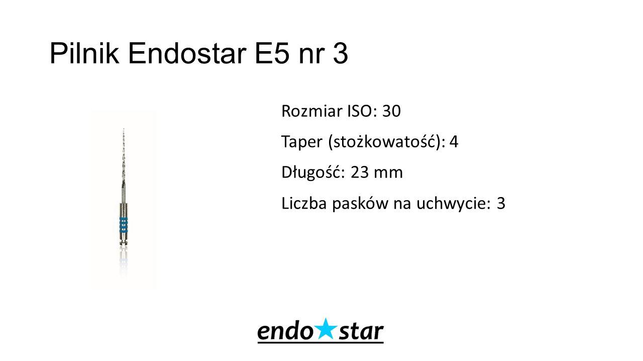 Pilnik Endostar E5 nr 4 Rozmiar ISO: 30 Taper (stożkowatość): 4 Długość: 25 mm Liczba pasków na uchwycie: 4