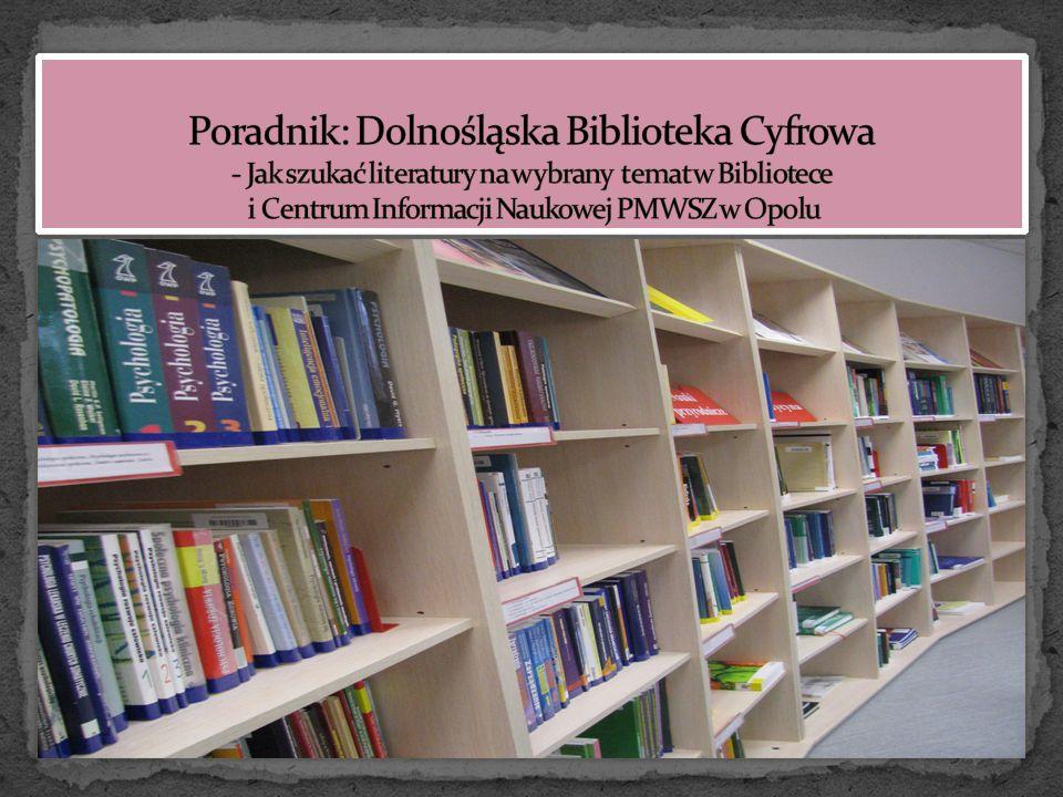 Skorzystaj z wersji elektronicznej naszych publikacji poprzez Dolnośląską Bibliotekę Cyfrową http://www.dbc.wroc.pl/dlibra Na portalu są zamieszczane materiały naukowo-badawcze i dydaktyczne, do których użytkownik ma wolny dostęp Skorzystaj z wersji elektronicznej naszych publikacji poprzez Dolnośląską Bibliotekę Cyfrową http://www.dbc.wroc.pl/dlibra Na portalu są zamieszczane materiały naukowo-badawcze i dydaktyczne, do których użytkownik ma wolny dostęp