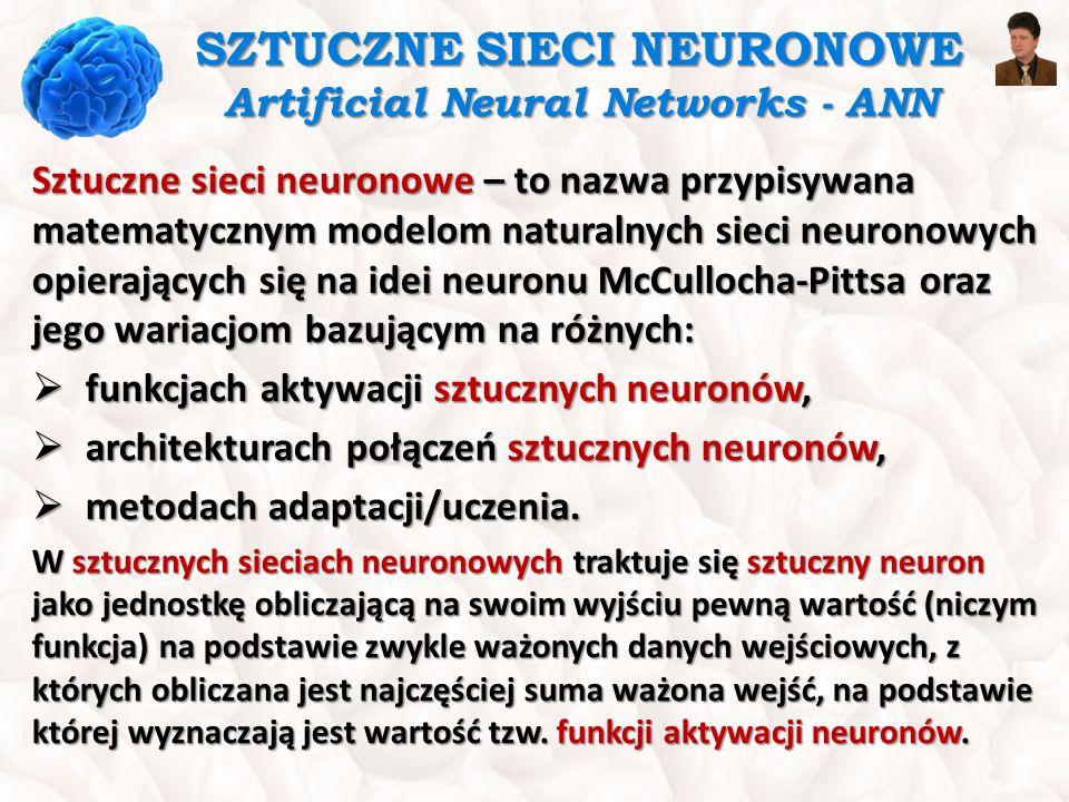 SZTUCZNY NEURON Artificial Neuron  Dane z wszystkich wejść x 1 … x n równocześnie oddziałują na sztuczny neuron.