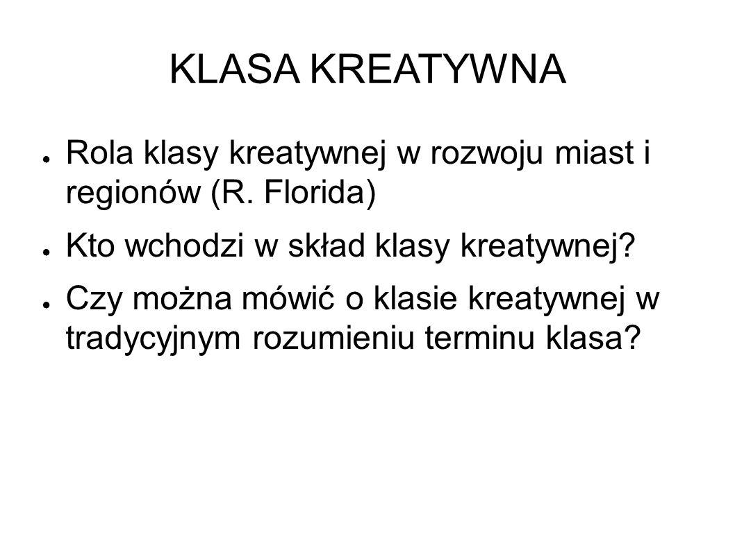 KLASA KREATYWNA ● Rola klasy kreatywnej w rozwoju miast i regionów (R.