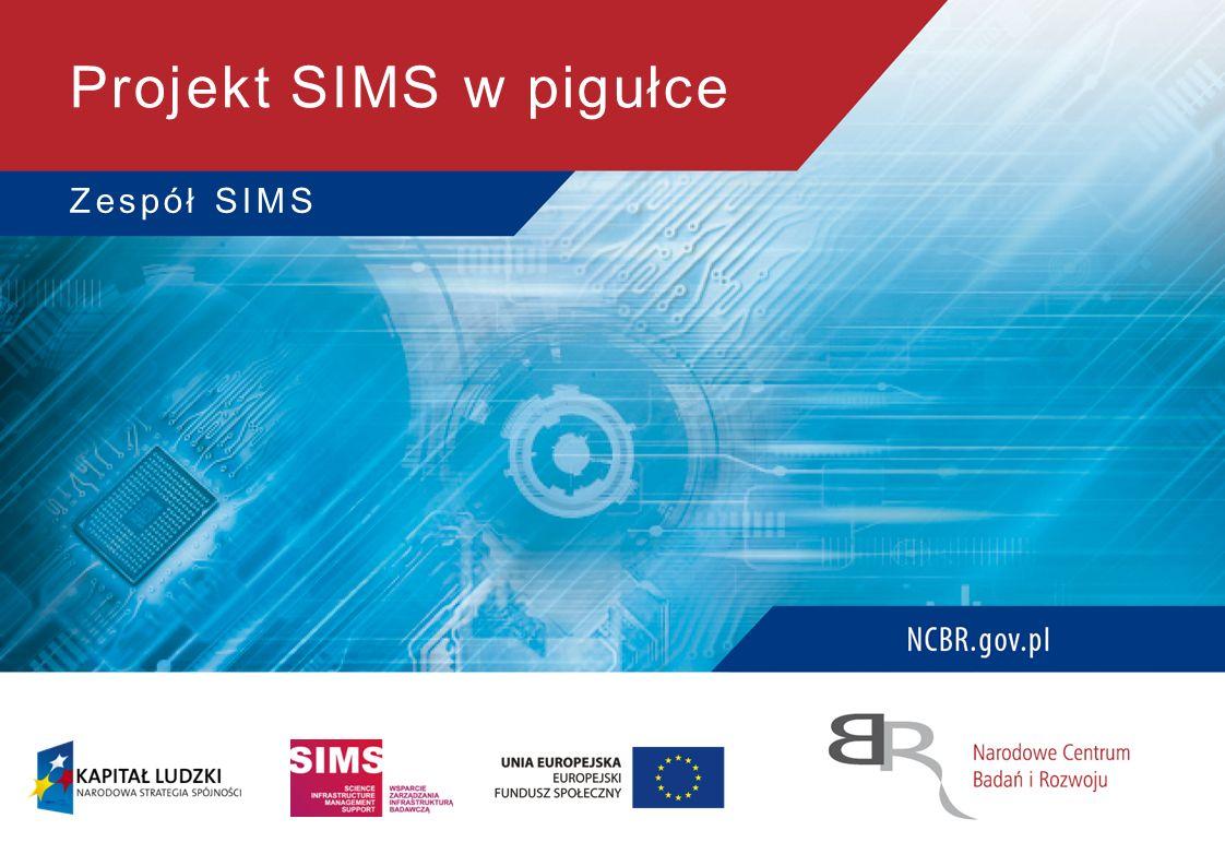 Projekt SIMS w pigułce Zespół SIMS