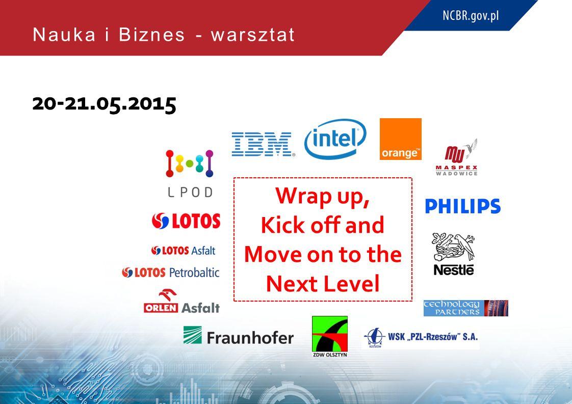 Nauka i Biznes - warsztat Wrap up, Kick off and Move on to the Next Level