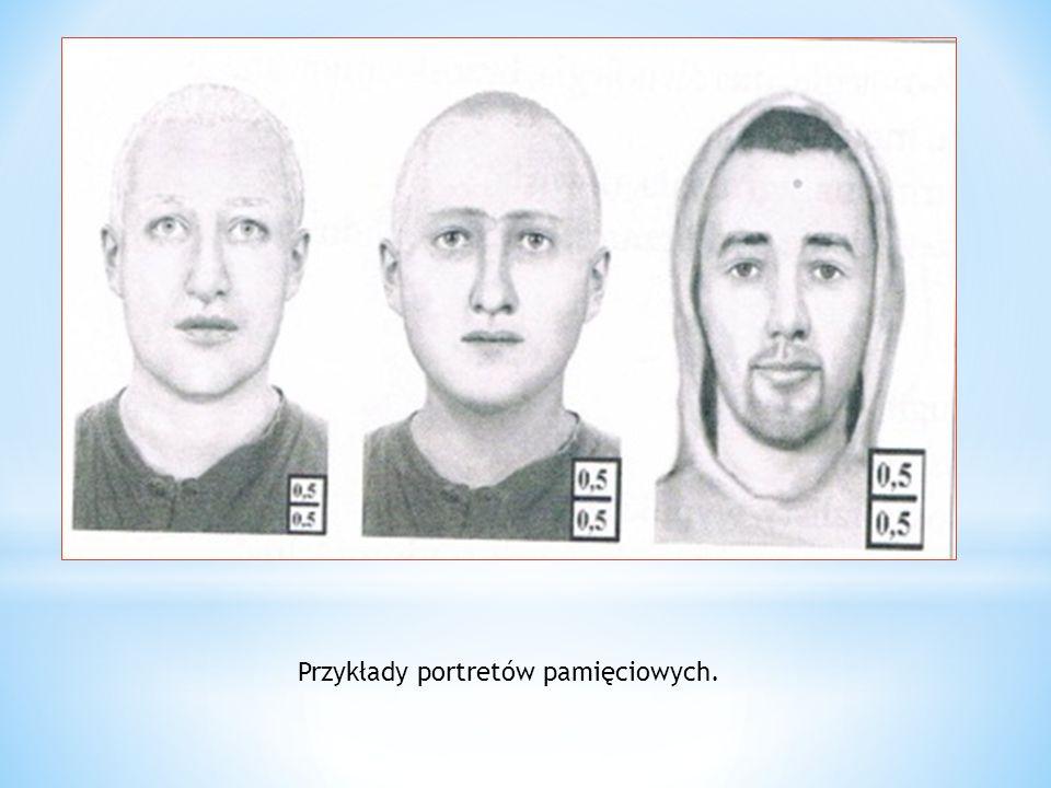 Przykłady portretów pamięciowych.