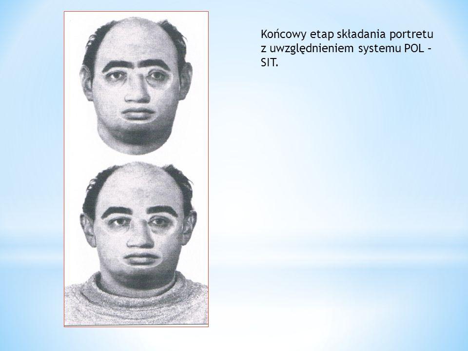 Końcowy etap składania portretu z uwzględnieniem systemu POL – SIT.