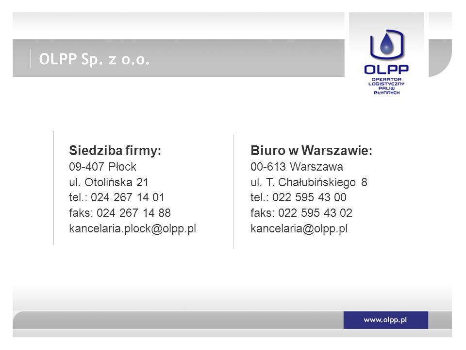 Siedziba firmy: 09-407 Płock ul.