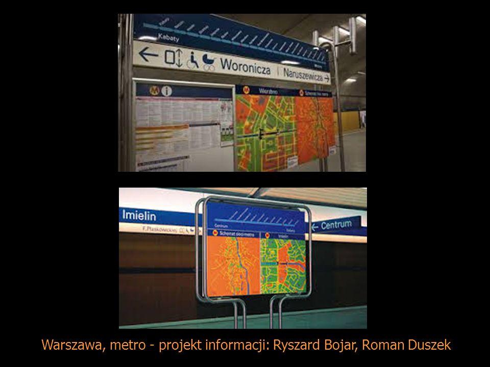 Warszawa, metro - projekt informacji: Ryszard Bojar, Roman Duszek