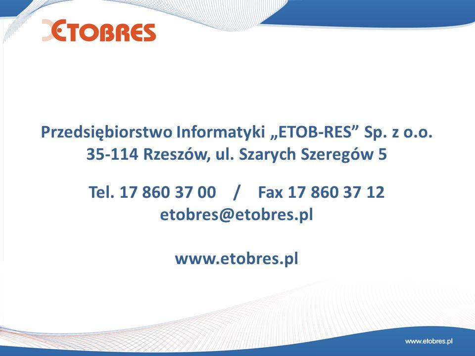 """Przedsiębiorstwo Informatyki """"ETOB-RES Sp. z o.o."""
