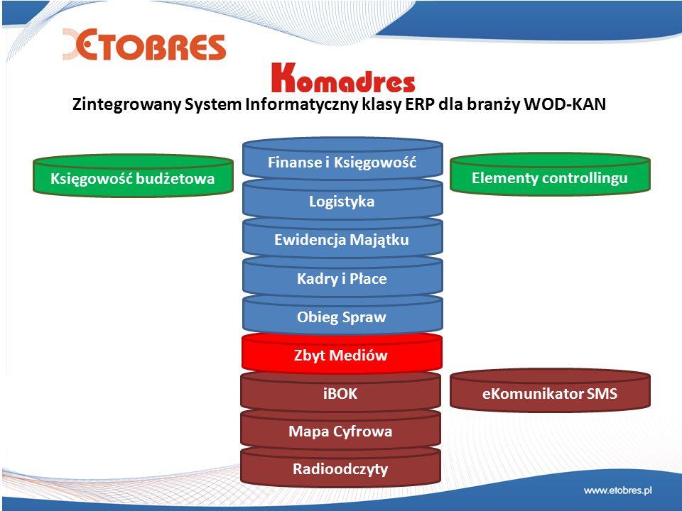 Dla branży WOD-KAN Najważniejsze cechy: 1.Skalowalność zarówno pod względem wielkości przedsiębiorstwa, liczby obsługiwanych klientów jak i formy działalności firmy (spółka, zakład budżetowy, itp.) 2.Pełna integracja z zewnętrznymi systemami odczytu i prezentacji danych elastycznie dopasowana do ich źródeł (np.