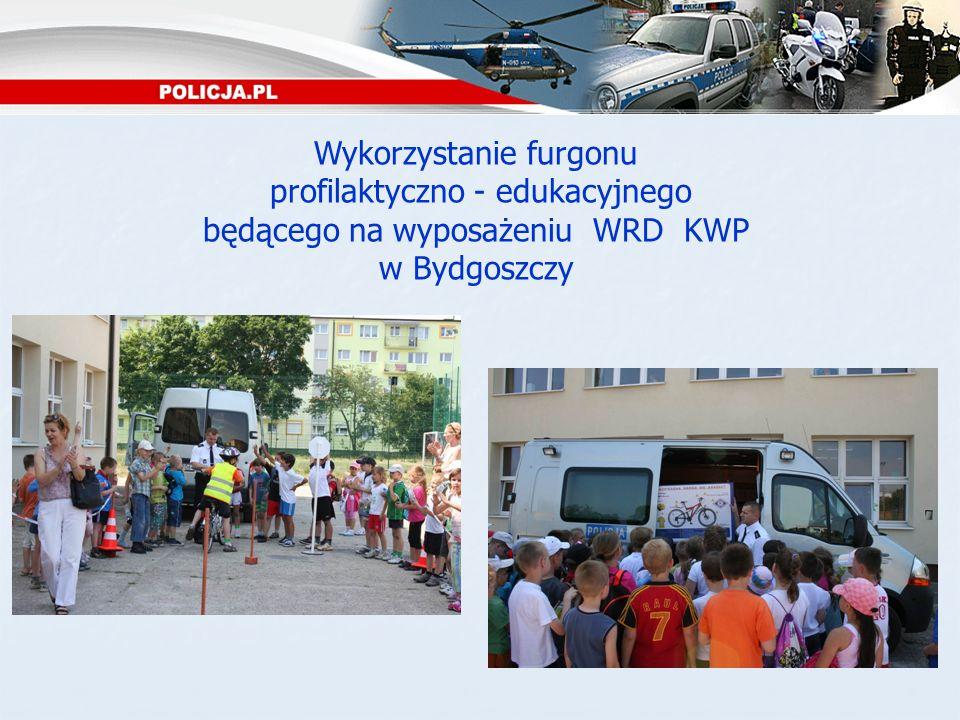 Wykorzystanie furgonu profilaktyczno - edukacyjnego będącego na wyposażeniu WRD KWP w Bydgoszczy