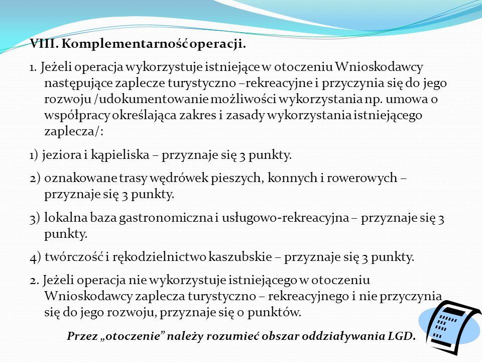 VIII. Komplementarność operacji. 1.
