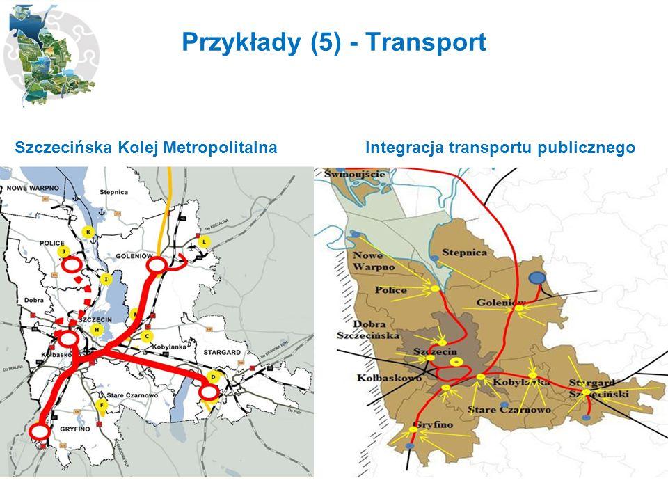 Przykłady (5) - Transport Szczecińska Kolej Metropolitalna Integracja transportu publicznego