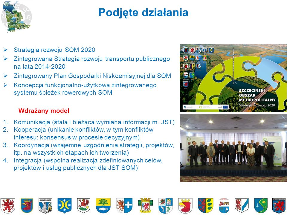Podjęte działania  Strategia rozwoju SOM 2020  Zintegrowana Strategia rozwoju transportu publicznego na lata 2014-2020  Zintegrowany Plan Gospodark