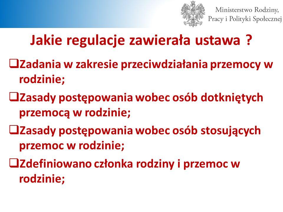 Jakie regulacje zawierała ustawa .cd.