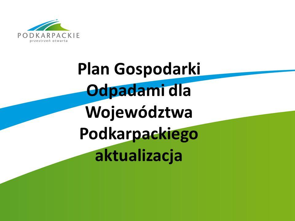 Plan Gospodarki Odpadami dla Województwa Podkarpackiego aktualizacja