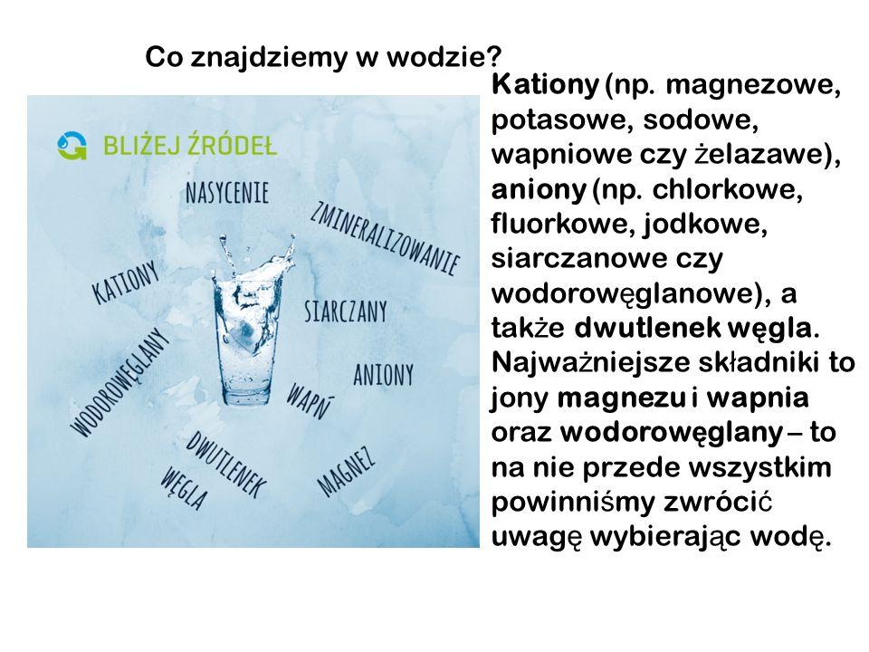 Co posiada woda mineralna Woda mineralna – jej definicj ę okre ś lono na Mi ę dzynarodowym Kongresie Balneologicznym w Bad Nauheim w roku 1911 Jest to naturalna woda zawieraj ą ca co najmniej 1000 mg/dm³ rozpuszczonych sk ł adników sta ł ych w postaci jonów.