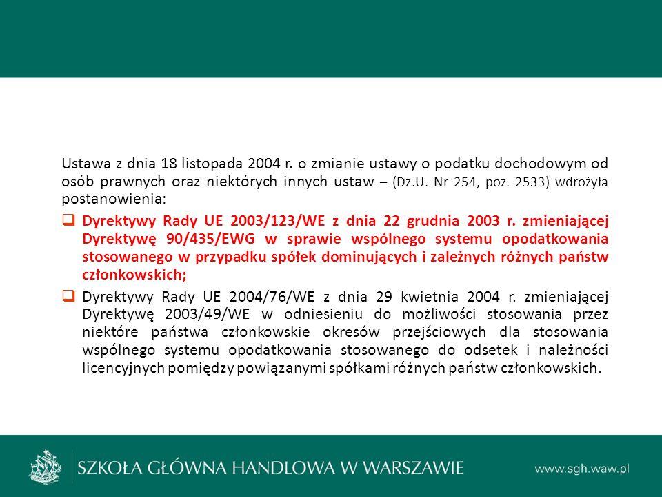 Ustawa z dnia 18 listopada 2004 r.