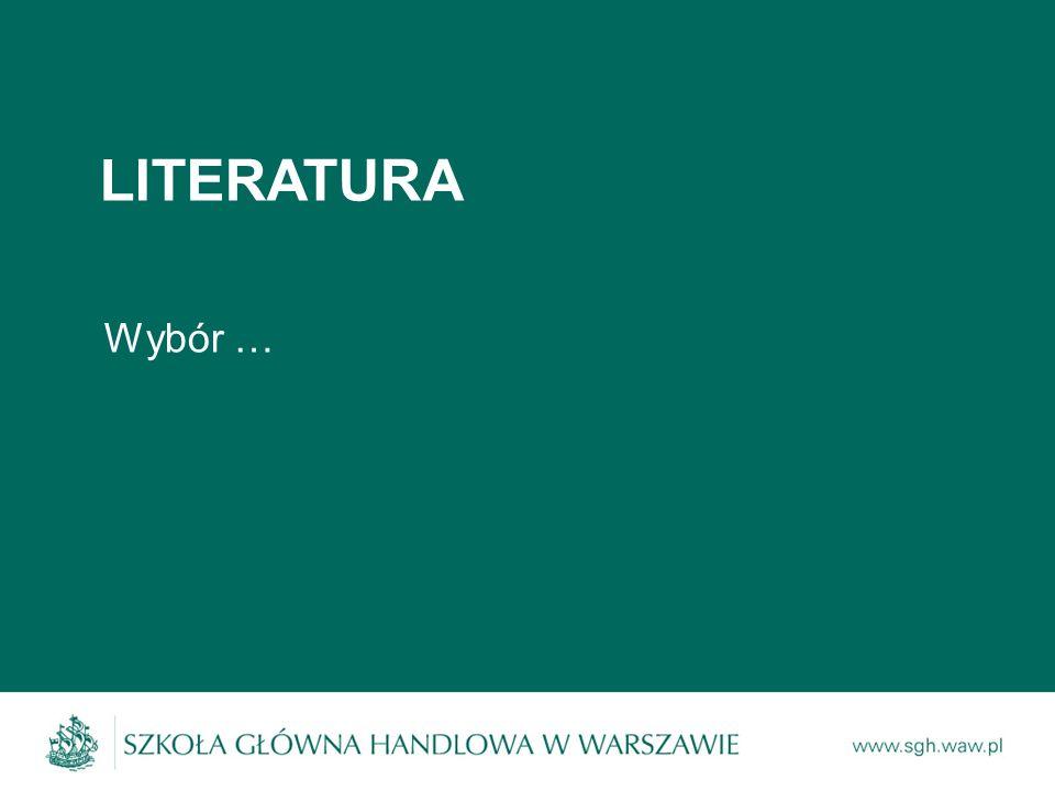 LITERATURA Wybór …