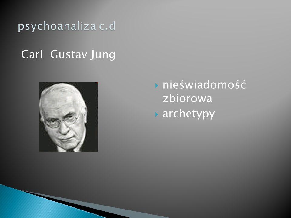 Carl Gustav Jung  nieświadomość zbiorowa  archetypy