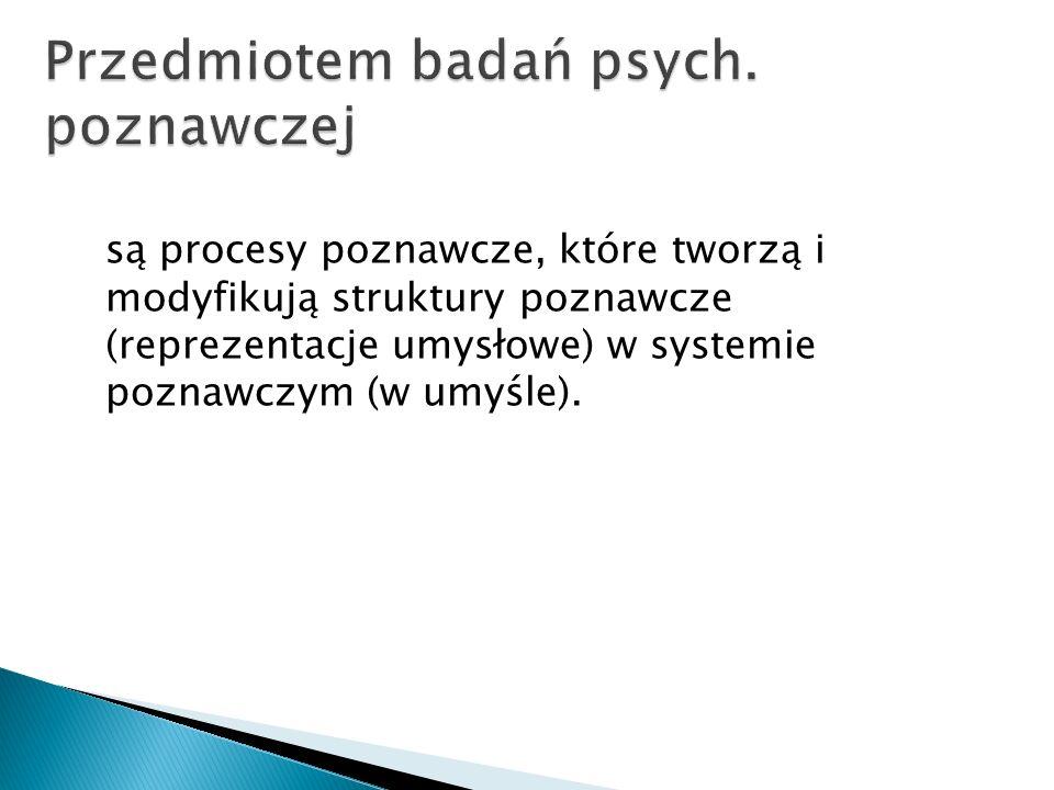 są procesy poznawcze, które tworzą i modyfikują struktury poznawcze (reprezentacje umysłowe) w systemie poznawczym (w umyśle).