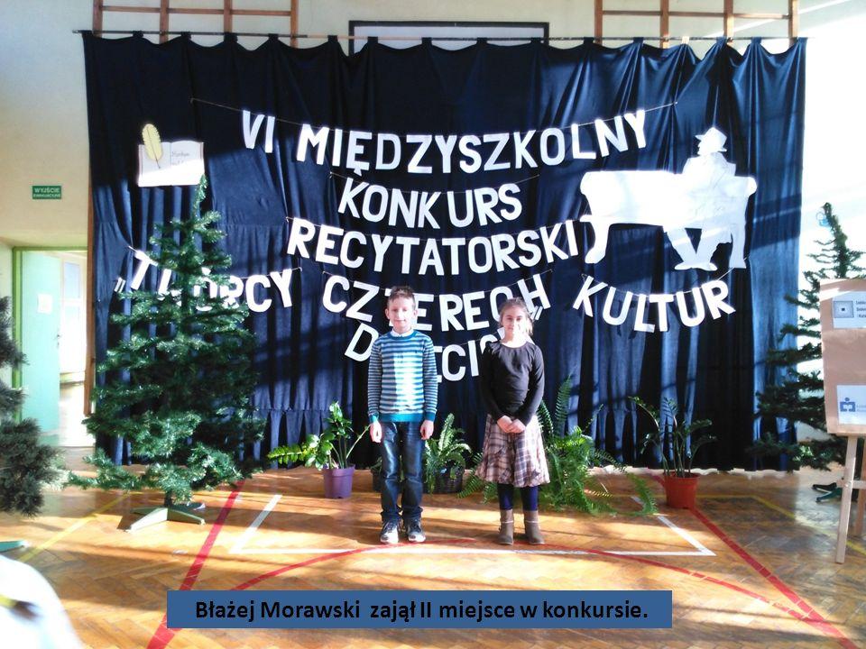 Błażej Morawski zajął II miejsce w konkursie.
