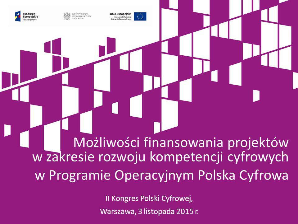 II Kongres Polski Cyfrowej, Warszawa, 3 listopada 2015 r.