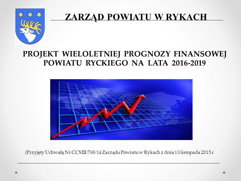 (Przyjęty Uchwałą Nr CCXIII/769/14 Zarządu Powiatu w Rykach z dnia 13 listopada 2015 r. PROJEKT WIELOLETNIEJ PROGNOZY FINANSOWEJ POWIATU RYCKIEGO NA L