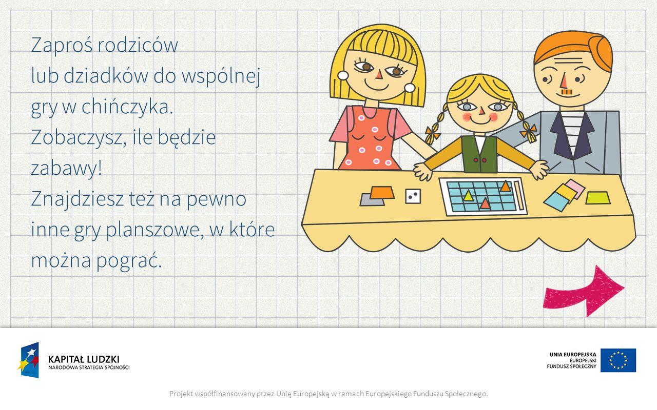 Zaproś rodziców lub dziadków do wspólnej gry w chińczyka.