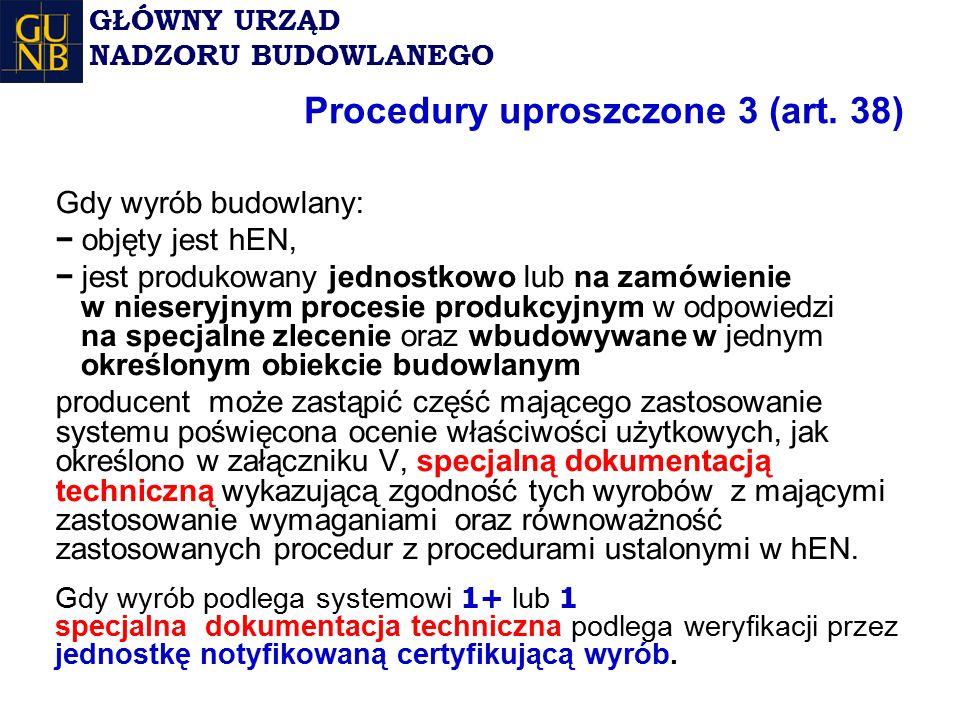 Procedury uproszczone 3 (art.