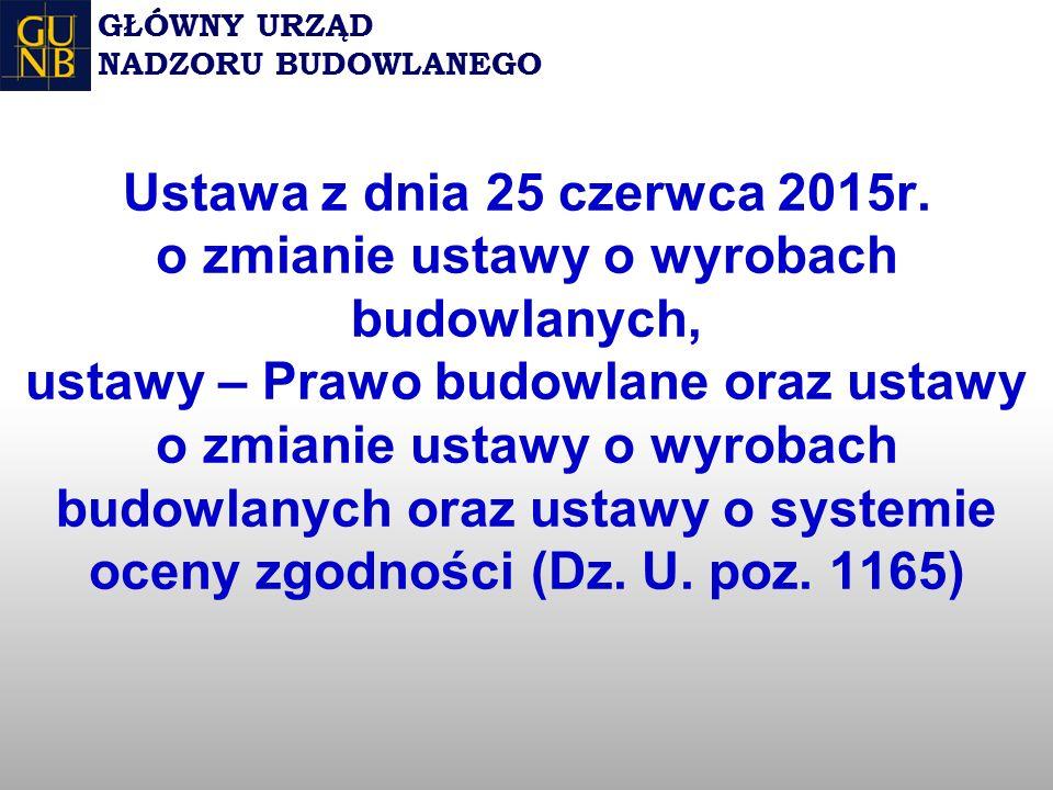 Ustawa z dnia 25 czerwca 2015r.