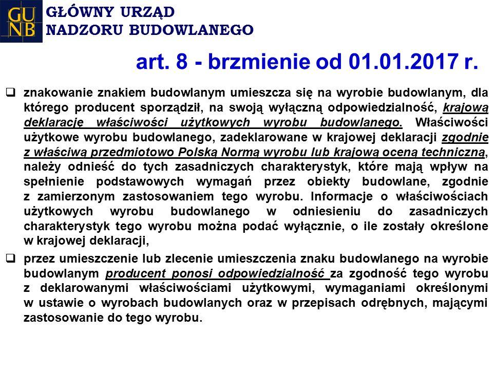 art. 8 - brzmienie od 01.01.2017 r.