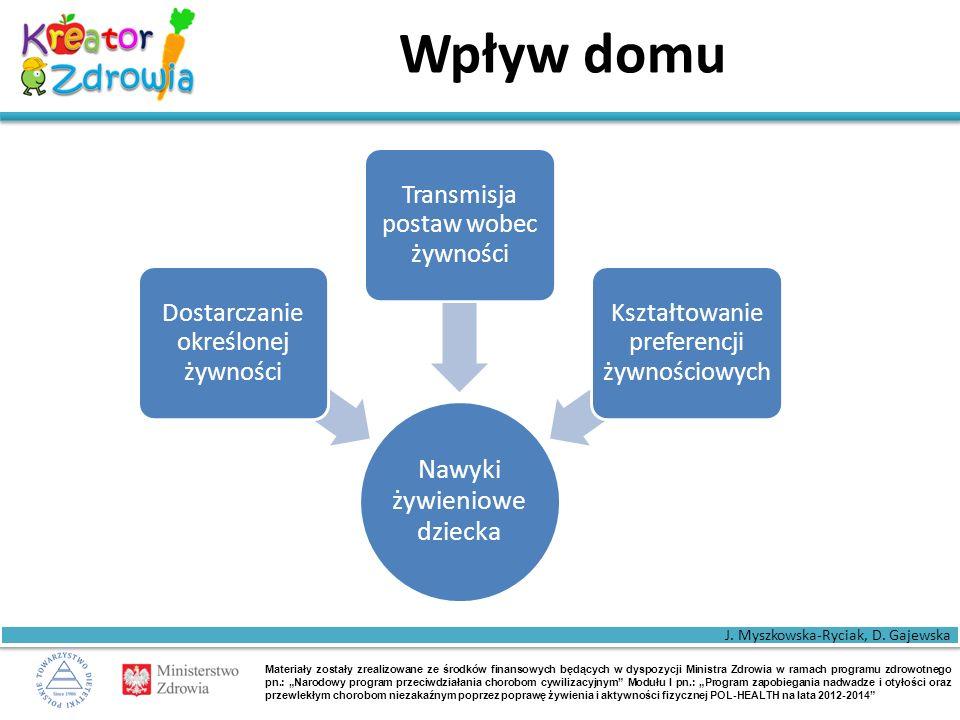 """Materiały zostały zrealizowane ze środków finansowych będących w dyspozycji Ministra Zdrowia w ramach programu zdrowotnego pn.: """"Narodowy program przeciwdziałania chorobom cywilizacyjnym Modułu I pn.: """"Program zapobiegania nadwadze i otyłości oraz przewlekłym chorobom niezakaźnym poprzez poprawę żywienia i aktywności fizycznej POL-HEALTH na lata 2012-2014 Rola matki Według badań zwykle większy wpływ w kształtowaniu nawyków żywieniowych dzieci ma matka."""