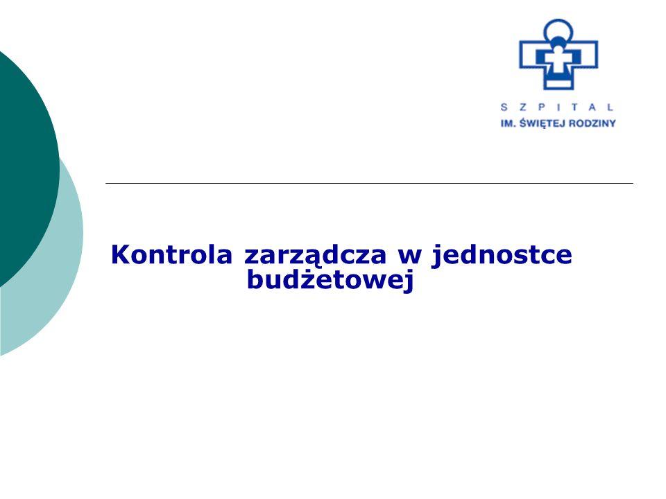 Regulacje prawne kontroli zarządczej: 1.Ustawa o finansach publicznych 2.