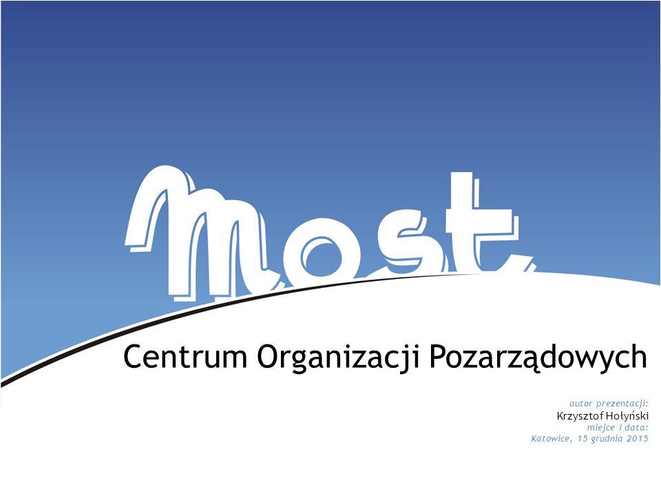 Projekt współfinansowany ze środków budżetu Miasta Katowice Centrum Organizacji Pozarządowych autor prezentacji: Krzysztof Hołyński miejce i data: Kat