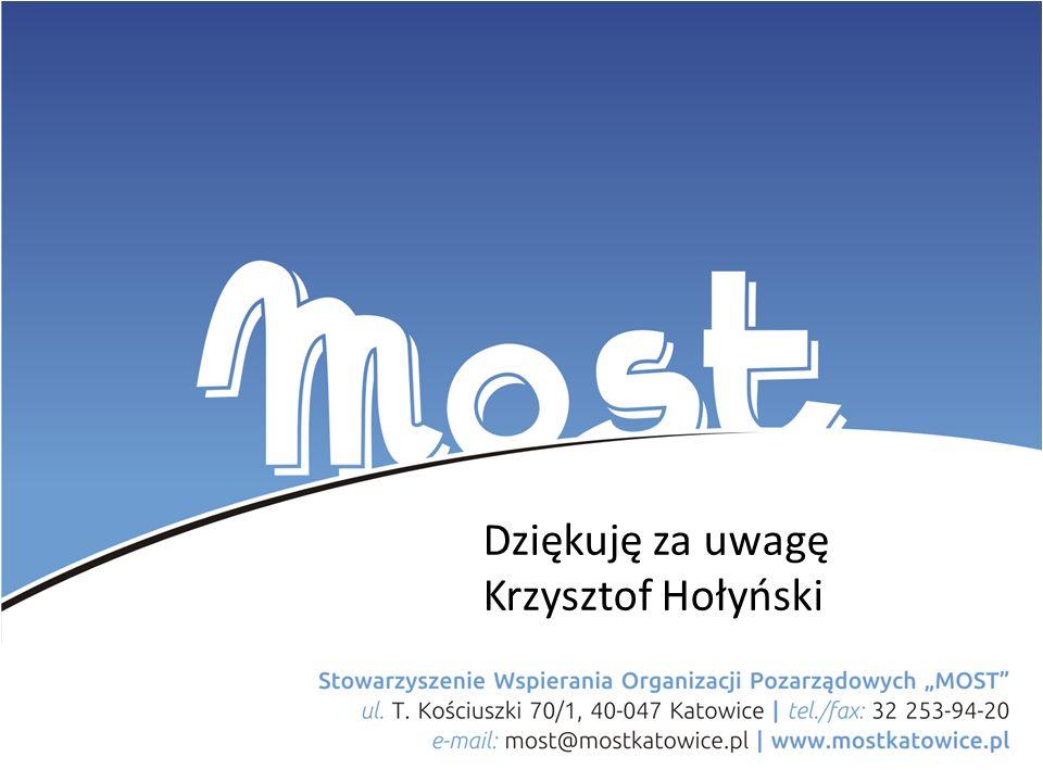 Projekt współfinansowany ze środków budżetu Miasta Katowice Dziękuję za uwagę Krzysztof Hołyński
