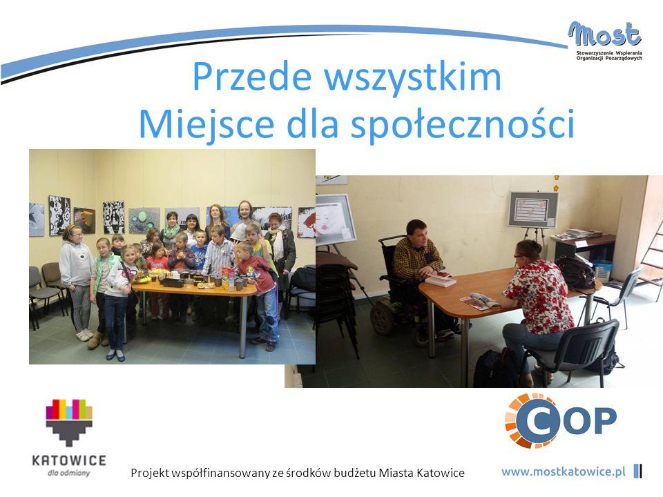 Projekt współfinansowany ze środków budżetu Miasta Katowice Przede wszystkim Miejsce dla społeczności