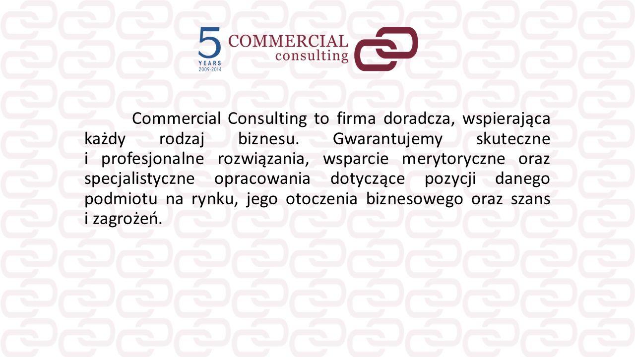Commercial Consulting to firma doradcza, wspierająca każdy rodzaj biznesu. Gwarantujemy skuteczne i profesjonalne rozwiązania, wsparcie merytoryczne o