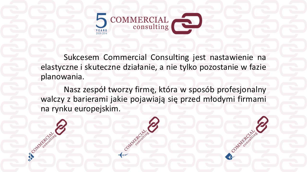 Sukcesem Commercial Consulting jest nastawienie na elastyczne i skuteczne działanie, a nie tylko pozostanie w fazie planowania. Nasz zespół tworzy fir