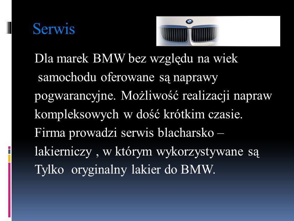Serwis Dla marek BMW bez względu na wiek samochodu oferowane są naprawy pogwarancyjne. Możliwość realizacji napraw kompleksowych w dość krótkim czasie