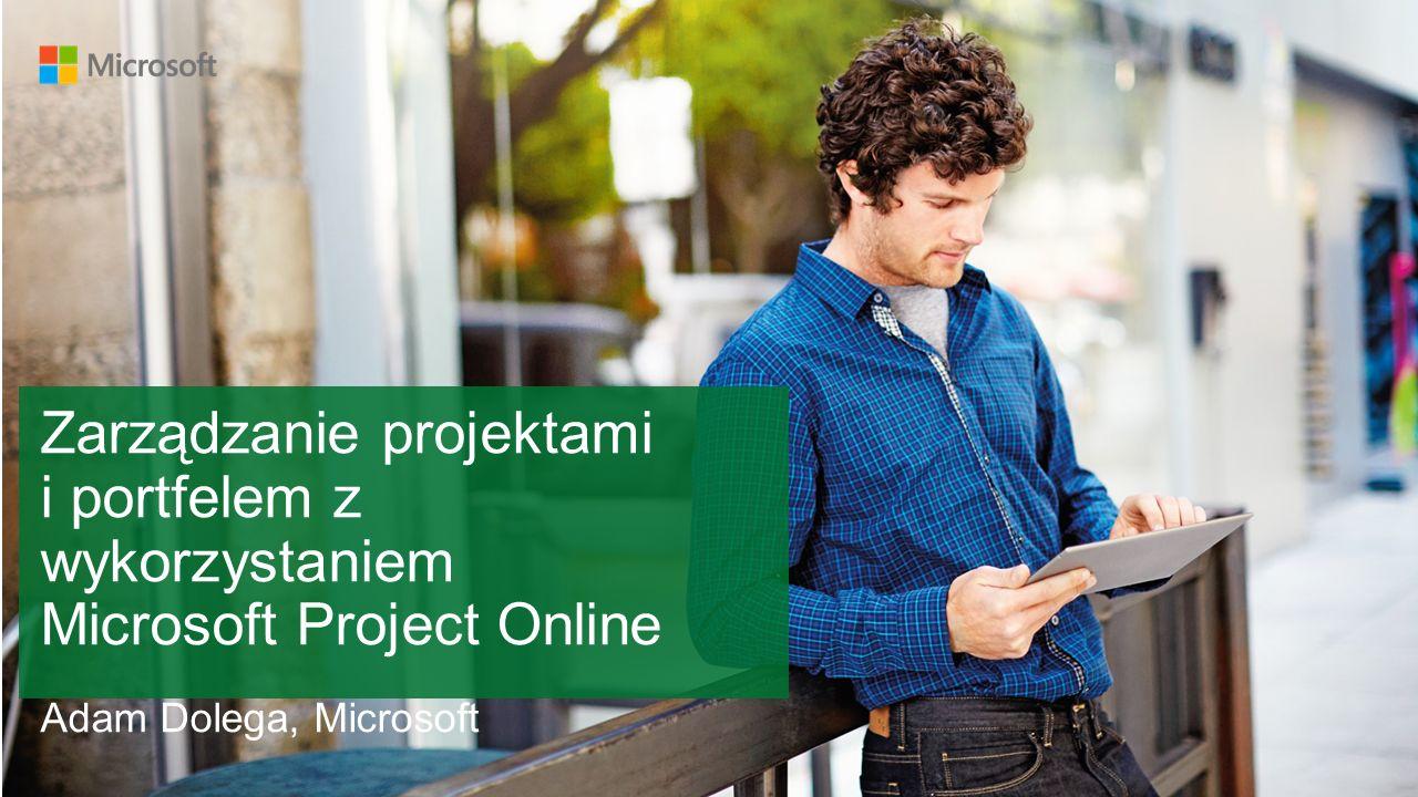 Zrzut ekranu z aplikacji Project Online Witryna zespołu projektowego zapewnia użytkownikom w jednym miejscu wszystko co jest potrzebne do wspólnej pracy nad projektem (harmonogram projektu, zadania, dokumentację, rejestr problemów ryzyk, wspólny notes, wiadomości i komentarze).